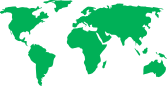 World map green