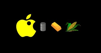 Apple Pacman Logo Eating Commodities