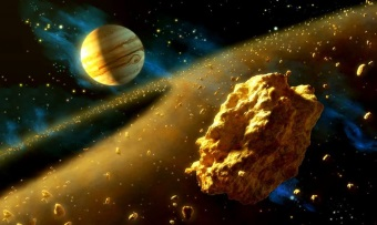 Gold Asteroid Wallpaper