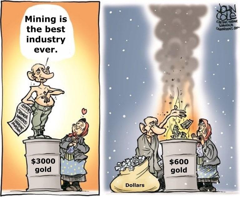 Gold Price Profitability Cartoon