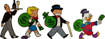 Monopoly Man and Friends