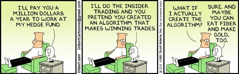 Wall Street Trading Dilbert Cartoon
