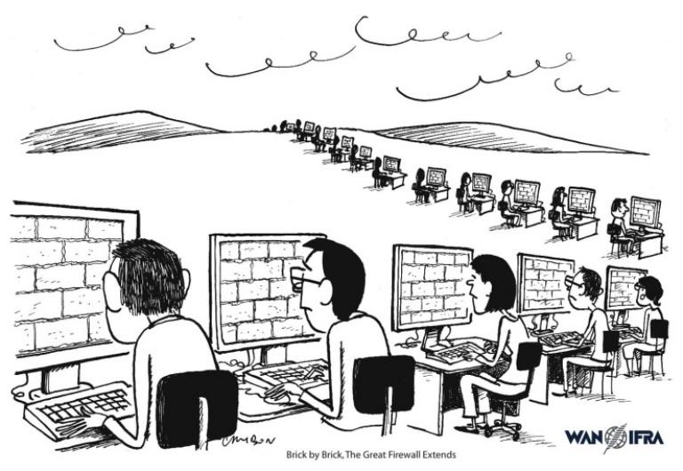 China Great Firewall Cartoon