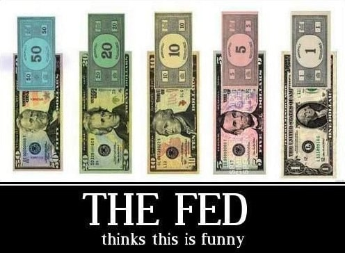 Federal Reserve Printing Monopoly Money