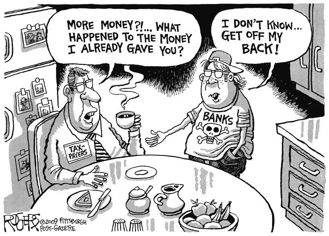 Tax Payers vs Banks Comic