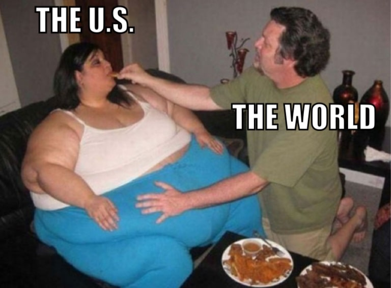 America Consumes more than it produces