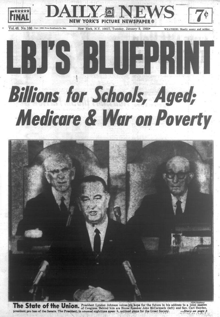 LBJ Great Society Newspaper