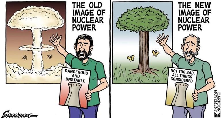 Nuclear Energy Climate Change Cartoon
